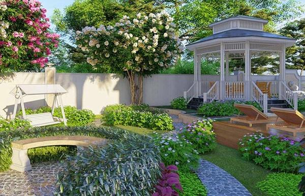 Thiết kế sân vườn theo phong thủy và những lưu ý vàng bạn cần biết