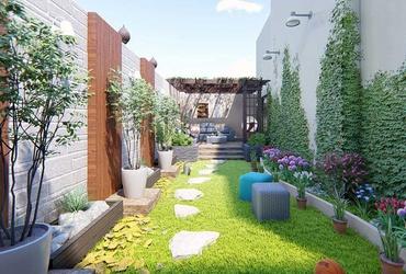 Thiết kế sân vườn nhà ống - điểm nhấn khác biệt cho ngôi nhà